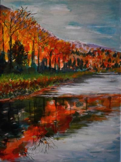 Poza Fall lake