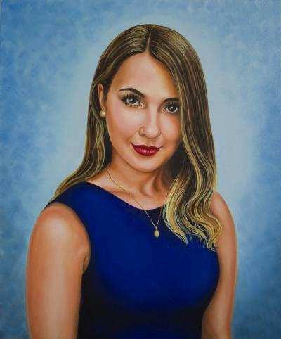 Poza Fata în albastru