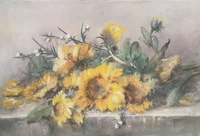 Poza Floarea  soarelui pe masa