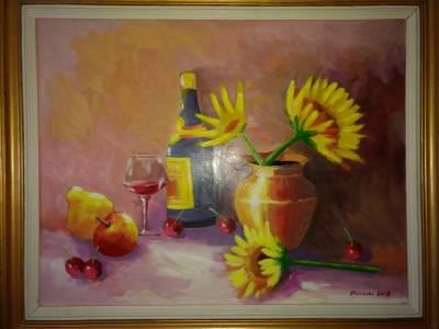 Poza Floarea soarelui si Pahar