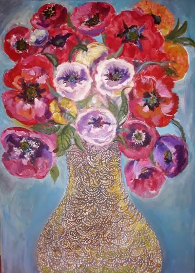 Poza Floral portrait