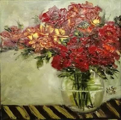 Poza Flori abstracte rosii