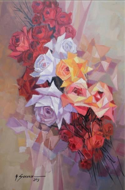 Poza flori cu reflexe de cristal  moo 1