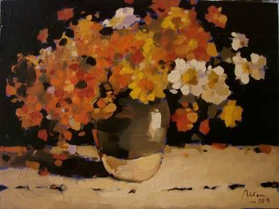 Poza Flori de camp1, ulei pe carton