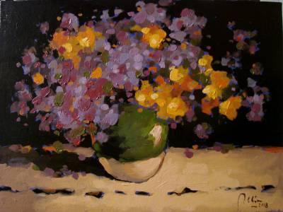 Poza Flori de camp2, ulei pe carton
