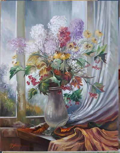 Poza flori de gradina in lumina dimineti