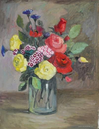 Poza flori in borcan...9