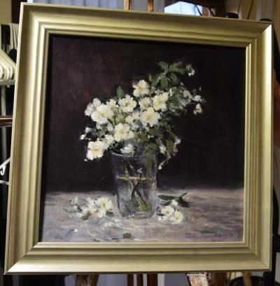Poza Flori în pahar(cu rama)