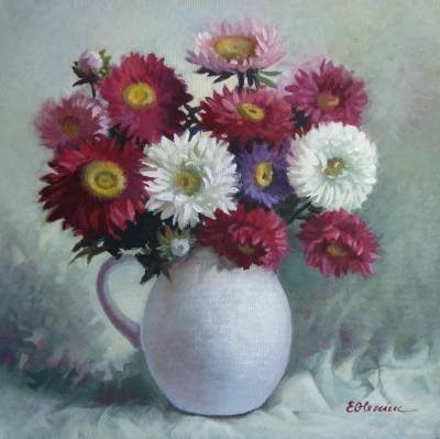 Poza Flori in vas alb