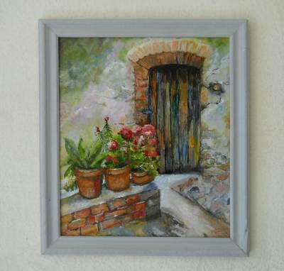 Poza flori la intrare