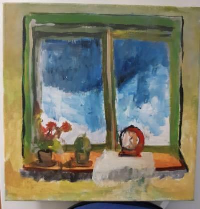 Poza Iarna la fereastra