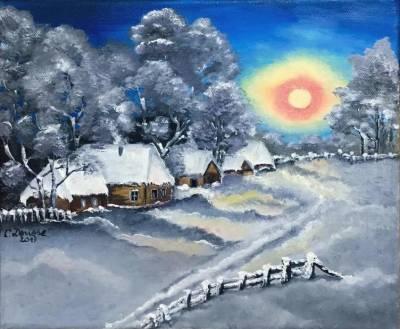 Poza Iarna la margine de sat