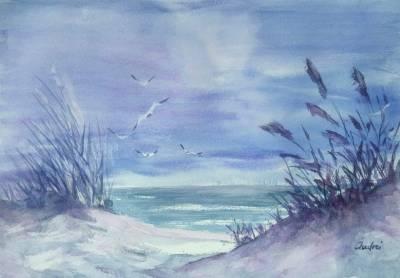 Poza iarna pe malul marii
