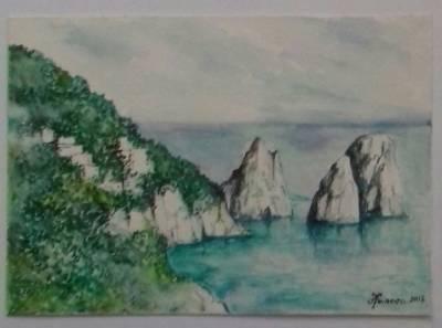 Poza Insula Capri Faraglioni