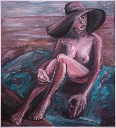 Poza Iulia la plajă