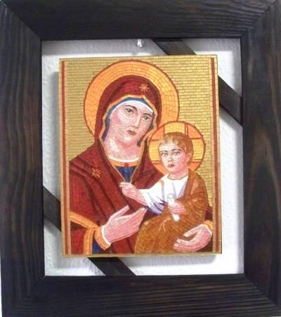 Poza Maica Domnului cu Pruncul - mozaic