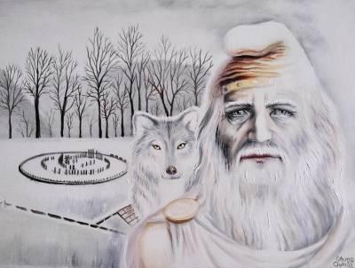 Poza Marele Deceneu si lupul dacic la Sa