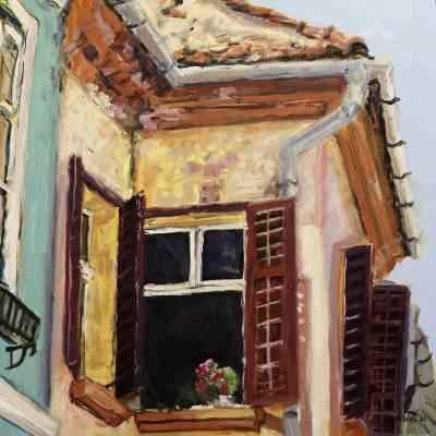Poza Muscata din balcon