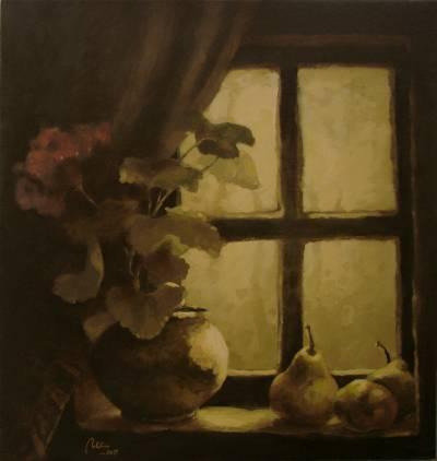 Poza Muscata in geam
