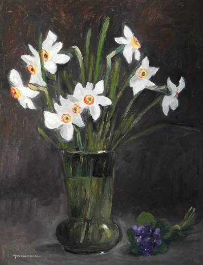 Poza natura statica cu flori de primavar