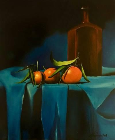 Poza Natura statica cu portocale si stic