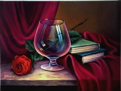 Poza Natura statica cu trandafir