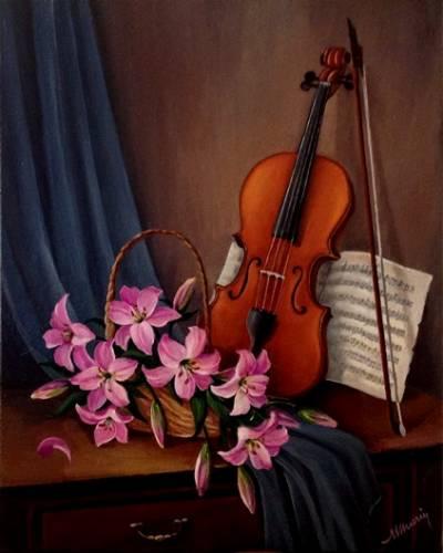 Poza Natura statica cu vioara