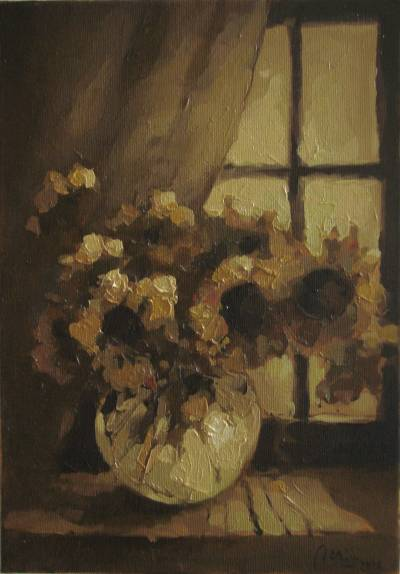 Poza Paharul cu flori galbene