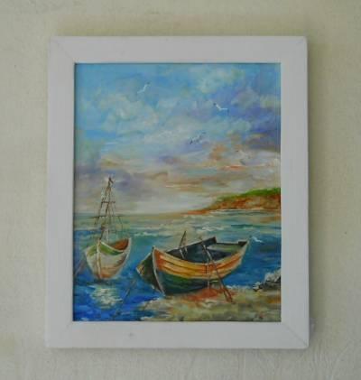 Poza peisaj cu barca