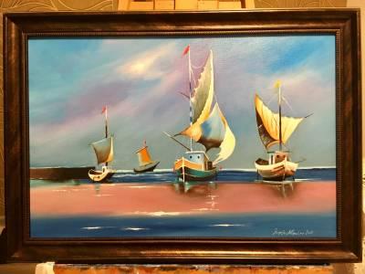 Poza Peisaj cu barci
