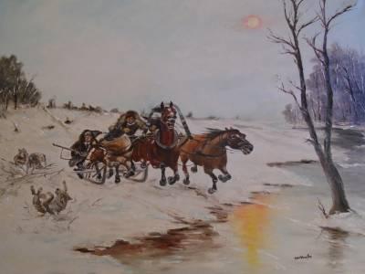 Poza Peisaj iarna ...Sanie cu cai  ...