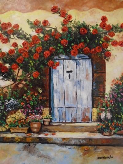Poza Peisaj mediteranean ...Trandafiri .