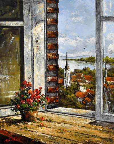 Poza Peisaj prin fereastra