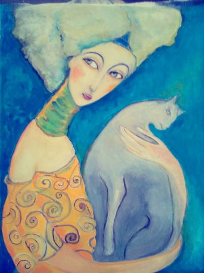 Poza Portret cu pisica