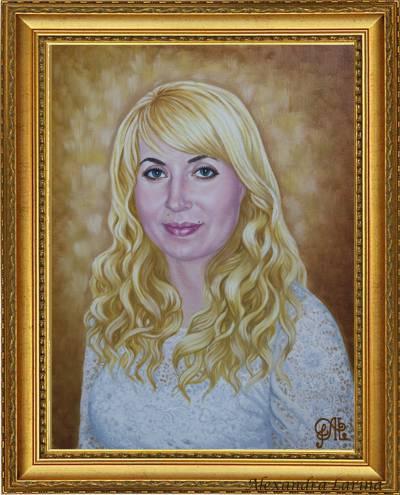 Poza Portret - femee blonda in alb