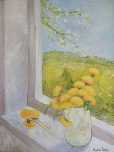 Poza Primavara cu papadii la fereastra