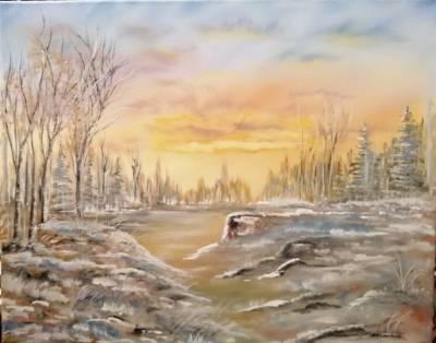 Poza Rasarit de soare Iarna