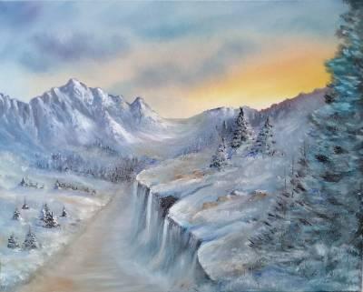 Poza Rasarit Munte Iarna