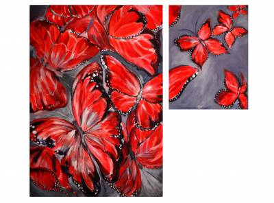 Poza Red butterflies