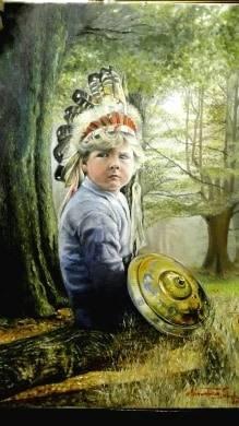 Poza Regele Mihai copil costumat in indi