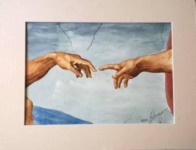 Poza Reproducere detaliu Michelangelo