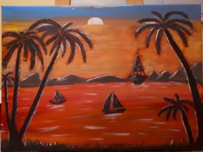 Poza Sunset in Caribbean