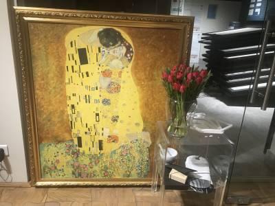 Poza Tablou Gustav Klimt - Sarutul