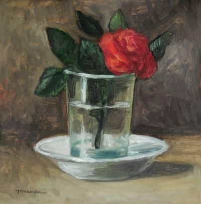 Poza trandafir in pahar ...2