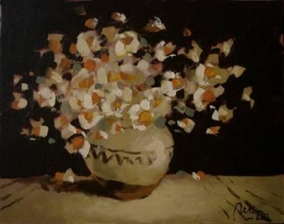 Poza Ulcica cu flori ,ulei carton