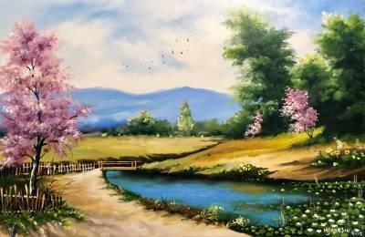 Poza Un peisaj vesel de primavara