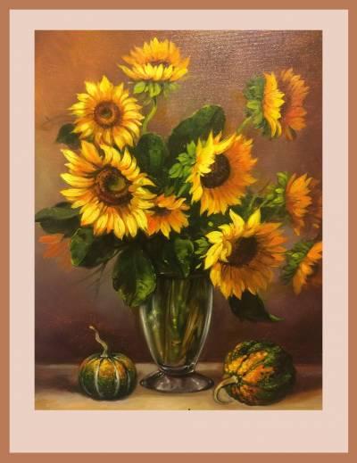 Poza vas cu floare soarelui 5