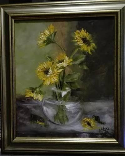 Poza Vas cu floarea soarelui