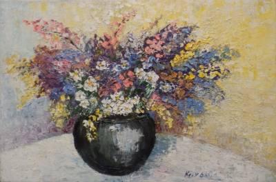 Poza Vas cu flori de camp