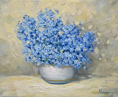 Poza Vas cu flori de nu ma uita